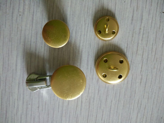 15mm 21mm Metal Button Brass Button para 2.0g / PCS 1.42g / PCS